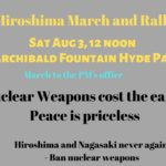 HIROSHIMA RALLY & MARCH @ Hyde Park Archibald Fountain
